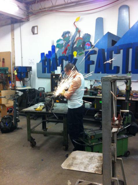 Aaron grinding